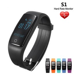 S1 Bluetooth Smart Band Wristband Heart Rate Smart Bracelet IP67 Waterproof Swim Smartband Bracelet For Android IOS Phone fitbits