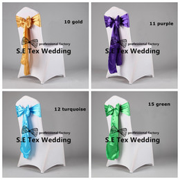 Wholesale Price 50pcs Lycra Spandex Chair Cover And 50pcs Satin Sash Chair Bow Free Shipping