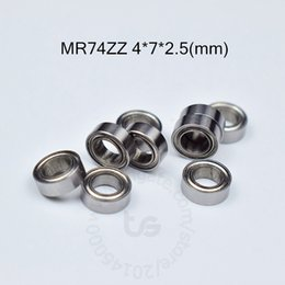 MR74ZZ bearing 10pcs Metal Sealed Miniature Mini Bearing Free shipping MR74 MR74ZZ 4*7*2.5mm chrome steel deep groove bearing