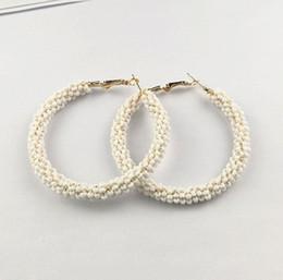 Gold Color Jewelry Bohemian Hoop Earrings Women Fashion Big Circle Earing Women Statement Earrings Party Wedding Brinco