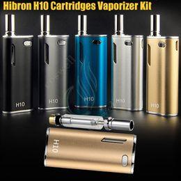 Original Hibron H10 Vape Starter Kit 650mAh 10W Box Mod Upgraded Thick Oil CE3 BUD CO2 0.8ml Cartridge Atomizer O pen Mystica Vaporizer vape