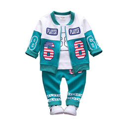 Kids Sport Suits Boys Girls Tracksuits Children Clothing Baby Infant Outfits 4 Color Fashion Sets 2018 Spring Autumn Kid Clothes