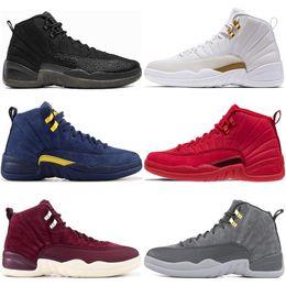 Gym red Bulls 12 12s mens basketball shoes flu game gamma blue dark grey white black designer men sports sneakers size 7-13