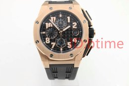 Luxury AAA quality brand new watch men royla oak offshore watch sports quartz chronograph rubber belts gold watch men dress male watches