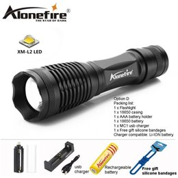 AloneFire E007 CREE XM-L2 LED Tactical Flashlight Bike Zoomable Spotlight Lamp Lanterna Torch Camping 18650 Lithium Battery