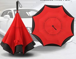 Reverse umbrella c-type hands free CAR use rain and shine UPF50+,Freeshipping
