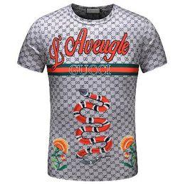 2018 Men's Spring Summer Casual Business T-shirt Classic Shirt Men's Shirt Classic Men's T-Shirt Trend T-Shirt 20021