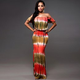 2018 Hot Sell Popular National Style Traditional African Women's Dresses Long Wrapped Chest Printing Dress Mujer Vestidos