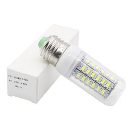 Edison2011 Mini LED Lamp 110V 220V SMD 5730 E14 E27 LED Light 56 LEDs Corn Bulb Chandelier For Home Lighting