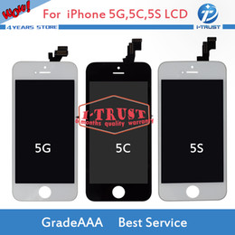 Wholesales LCD For iPhone 5 5S 5C LCD Display Touch Screen Digitizer and free Best Repair Replacement With Repair Tools + Free Shipping