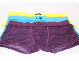 Low waist Male Sexy Pouch Underwear 8 Colors Mens Transparent Gauze Boxer Shorts Gay Funny See Through Panties