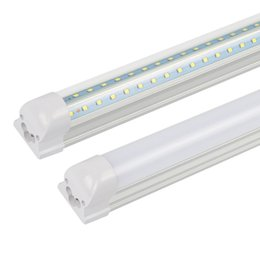 10X ( tube+base ) integrated LED tube light lamp T8 1200mm 1.2M 4 FT 28W SMD2835 Cold white AC 85-265V free FEDEX