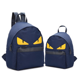 Red blue black 3color 2size little monster designer luxury backpack brand travel school backpack men and women shoulder bag