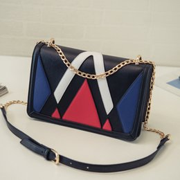 Color mosaic tide chain handbags 2018 new Europe and the United States shoulder bag commuter wild Messenger bag