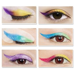 LANBENA Rainbow Party Fashion Wing Eye liner Eye Shadow Stickers Makeup Glitter Makeup Brushes Tools Eye Liner