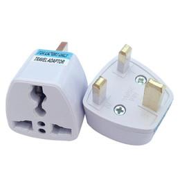 US EU AU Travel Adaptor Plug to UK plug Adapter Converter x100