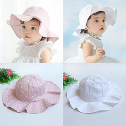 Toddler Infant Kids Soft Cotton Sun Cap Summer Outdoor Breathable Hats Baby Girls Boys Beach Sunhat Suit for 1-4 Years Old kids free ship