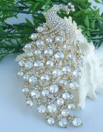Beautiful Vintage Style Women's Austrian Crystal Rhinestone Animal Peacock Brooch Pin EE05651C12
