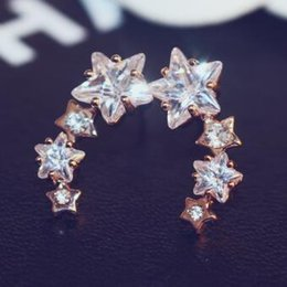All-match temperament Earrings for Women Party Zircon Star Stud Earrings Charms Jewelry Fashion Korean Accessories