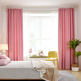 Finished linen curtain Simple modern bedroom princess style balcony shading sunscreen fabric sunscreen solid color cotton and linen