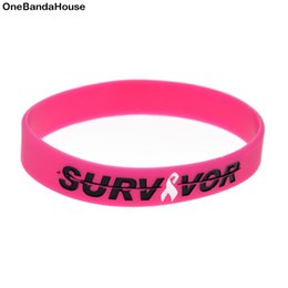 Wholesale 100PCS Lot Survivor Silicone Wristband for Cancer Great for Daily Reminder By Wearing This Bracelet