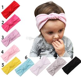 9 Color Fashion Baby bowknot Headbands Girls Cute Bow Hair Band Infant Lovely bowknot Headwrap Children Bowknot Elastic Accessories B001