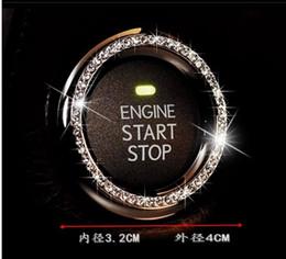 Car interior crystal diamond one-touch ring diamond ring start key ring decorative ring,freeshipping