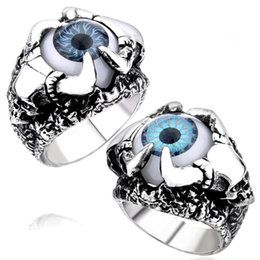 New Men's Stainless Steel Skull magic eye Ring European and American Fashion 316L Titanium Steel Rings Jewelry Gift