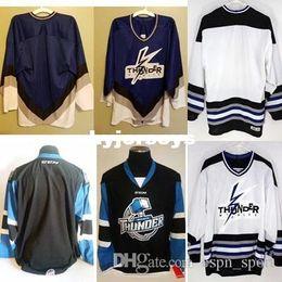 custom 2016 Customize ECHL Wichita Thunder Mens Womens Kids Best quality  Cheap Hockey Jerseys Goalit Cut Custom Any name Any NO. jerseys 464f25254