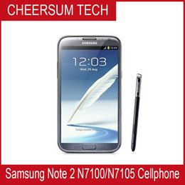 Original Samsung Galaxy Note II 2 N7100 Mobile phone Quad Core 2GB RAM 16GB ROM Unlocked 3G NFC Refurbished Phone