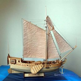 Royal Dutch yacht 1:80 dhow model wooden classical sailboat assembly kit DIY gifts