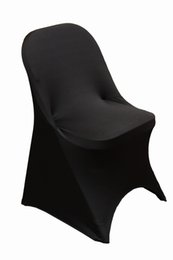 Free shipping spandex black chair cover lycra Folding chair cover banquet chair cover for Wedding