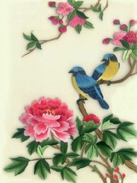 DIY Unfinished 100% Mulberry Silk Suzhou Embroidery Patterns Sets Handmade Needlework Kits Flowers And Birds