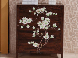 Real wood bucket cabinets to make old and simple modern drawer storage living room in the new Chinese cabinet