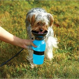 Auto dog mug portable puppy water bottle walking hiking travel outdoor pet water bottle automatic waterers