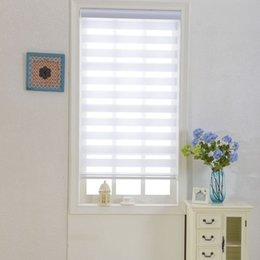 Zebra Blinds Translucent Roller Blinds Shades Double Layer Custom Made Size Curtains for Living Room
