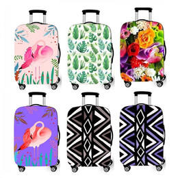 Colorful Flower Suitcase Covers Elastic 18-28 Inch S M L Size Travel luggage Cover Protector Dustproof Spandex Protective Cover