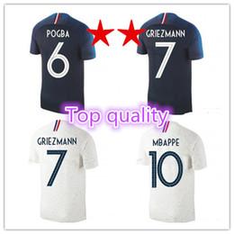 Top quality 2018 World Cup football shirt GRIEZMANN MBAPPE shirt DEMBELE KANTE COMAN jersey football GIROUD Maillot de foot