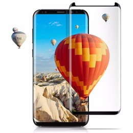 For S9 Screen Protector Case Friendly S8 Plus S6 S7 Edge Note 9 Full Cover 3D Curved 0.2 mm Tempered Glass Screen Protector Perfect for case