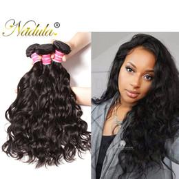 Nadula Brazilian Virgin Hair 3Bundles Natural Wave Human Remy Hair Extensions 8-26inch Natural Hair Weave Bundles Wholesale Cheap Bulk Silk