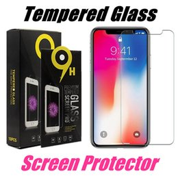 For iPhone X Tempered Glass Screen Protector iPhone 8 Plus Protect Film For iPhone 5 SE J7 Prime J3 2017 With Retail Package