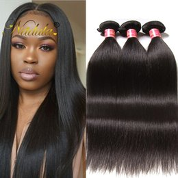 Nadula Virgin Brazilian Straight Hair 3 Bundles Remy Human Hair Extensions 100% Human Hair Weave Bundles Cuticle Aligned Weave Wholesale