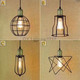 AC100-240V Modern Iron lampshade pendant lights vintage industrial lighting art decoration pendant hanging lamps luz