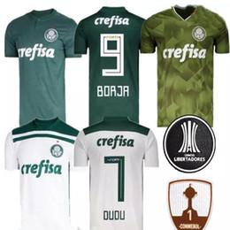 2018 Palmeiras Soccer Jersey Home Away Green White DUDO G.JESUS JEAN ALECSANDRO Palmeiras ALLIONE CLEITON XAVIER 2018 2019 Football Shirt