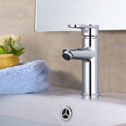 Zinc Alloy Bathroom Faucet Vessel Sink Single Handle Single Handle Hot Cold Mixer Taps