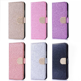 Luxury Diamond Glitter Bling Wallet Flip Stand PU Leather Case For iphone X 8 7 6 6S Plus Samsung S7 S8 S9 Plus J3 J5 J7 2017