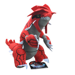 "Hot New 11"" 28CM Groudon Plush Doll Anime Collectible Dolls Stuffed Party Gifts Soft Toys"