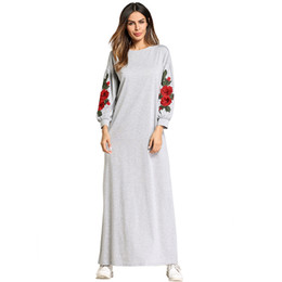 185747 Mideast Muslim Women's Dress Euramerica Long Skirt Embroidered Nation Style Women Dresses Vestidos Mujer Musulman Gowns Fashion Abaya