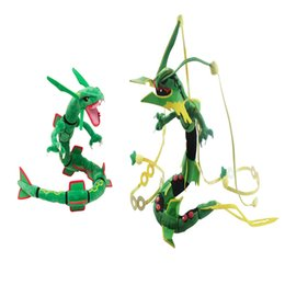 Hot Sale 76-80cm XY Green Rayquaza Dragon Pikachu Plush Stuffed Doll Toy For Kids Best Holiday Gifts