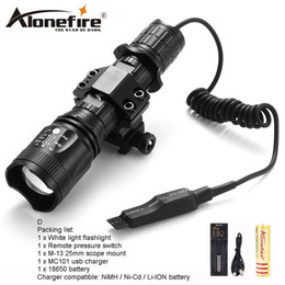 AloneFire TK400 CREE XML L2 led hunting torch light flashlight Pressure Switch Mount Hunting Torch Lighting for 18650 battery